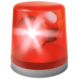 Police Car Light Emoji, Apple style