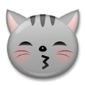 Kissing Cat Face with Closed Eyes Emoji, LG style
