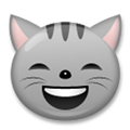 Grinning Cat Face With Smiling Eyes Emoji, LG style