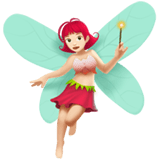 Woman Fairy Emoji with Light Skin Tone, Apple style