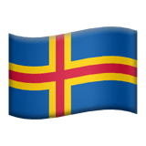 Flag: åLand Islands Emoji, Apple style