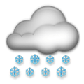 Cloud with Snow Emoji, LG style