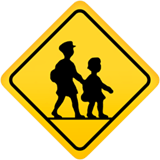 Children Crossing Emoji, Apple style