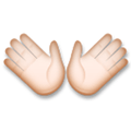 Open Hands Emoji with a Light Skin Tone, LG style