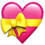 Heart with Ribbon Emoji, Apple style
