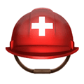 Rescue Helmet Emoji / Rescue Worker's Helmet Emoji, Apple style