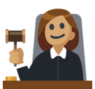 Woman Judge Emoji with Medium Skin Tone, Facebook style