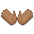 Open Hands Emoji with Medium-Dark Skin Tone, LG style