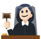 Woman Judge Emoji with Light Skin Tone, Facebook style