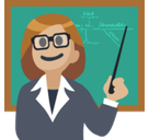 Woman Teacher Emoji with Medium-Light Skin Tone, Facebook style