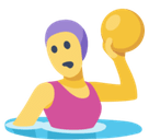 Woman Playing Water Polo Emoji, Facebook style