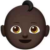 Baby Emoji with Dark Skin Tone, Apple style