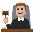Man Judge Emoji with Medium-Light Skin Tone, Facebook style