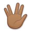 Vulcan Salute Emoji with Medium-Dark Skin Tone, LG style