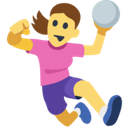 Woman Playing Handball Emoji, Facebook style