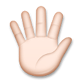 Hand with Fingers Splayed Emoji with Light Skin Tone, LG style