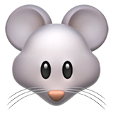 Mouse Face Emoji, Apple style