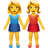 Two Women Holding Hands Emoji, Apple style