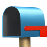 Open Mailbox with Lowered Flag Emoji, Apple style