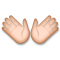 Open Hands Emoji with a Medium-Light Skin Tone, LG style