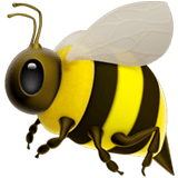 Bee Emoji / Honeybee Emoji, Apple style
