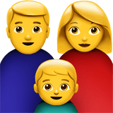 Family: Man, Woman, Boy Emoji, Apple style