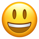 Smiling Face With Open Mouth Emoji, Apple style