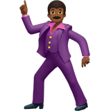 Man Dancing Emoji with Medium-Dark Skin Tone, Apple style