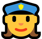 Woman Police Officer Emoji, Microsoft style