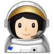 Woman Astronaut Emoji with a Light Skin Tone, Samsung style
