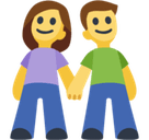 Man and Woman Holding Hands Emoji, Facebook style