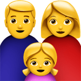 Family: Man, Woman, Girl Emoji, Apple style