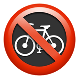 No Bicycles Emoji, Apple style