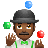 Person Juggling Emoji with a Medium-Dark Skin Tone, Apple style