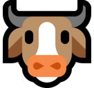Cow Face Emoji, Microsoft style