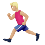 Person Running Emoji with a Medium-Light Skin Tone, Apple style