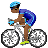 Man Biking Emoji with a Medium-Dark Skin Tone, Apple style