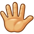 Raised Hand with Fingers Splayed Emoji, Samsung style