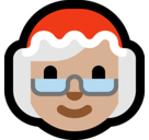 Mrs. Claus Emoji with Medium-Light Skin Tone, Microsoft style