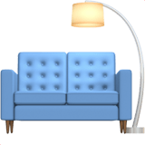 Couch and Lamp Emoji, Apple style