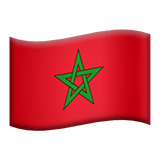 Flag of Morocco Emoji, Apple style