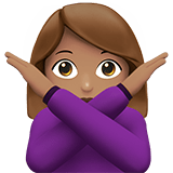 Person Gesturing No Emoji with a Medium Skin Tone, Apple style