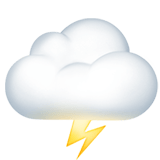 Cloud with Lightning Emoji, Apple style
