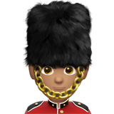 Man Guard Emoji with a Medium Skin Tone, Apple style