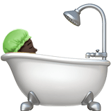 Person Taking Bath Emoji with a Dark Skin Tone, Apple style