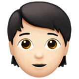 Person Emoji with Light Skin Tone, Apple style