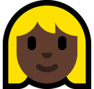 Woman: Dark Skin Tone, Blond Hair, Microsoft style