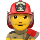 Man Firefighter Emoji, Apple style