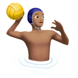 Man Playing Water Polo Emoji with a Medium Skin Tone, Apple style
