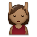 Person Getting Massage Emoji with Medium-Dark Skin Tone, LG style